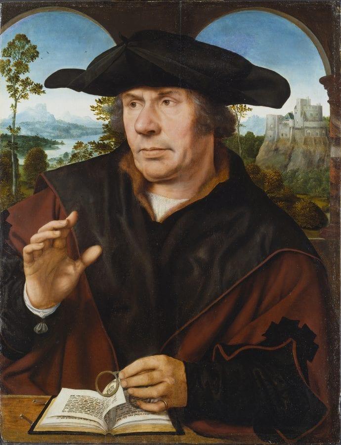 Quinten Metsys, Portrait of a Scholar, ca. 1525_30, Frankfurt am Main, St_del Museum