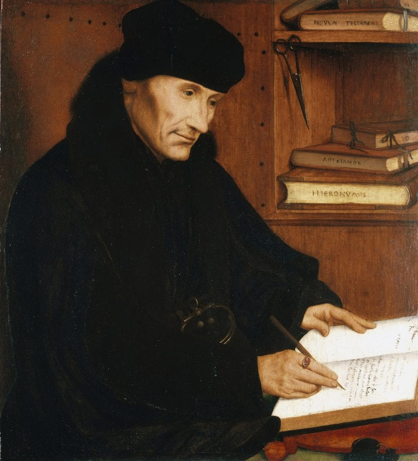 Quinten Metsys,  Desiderius Erasmus, 1517, United Kingdom, Royal Collection Trust