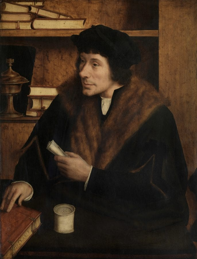 Quinten Metsys,  Portrait of Peter Gillis,  16th century, Antwerp, Koninklijk Museum voor Schone Kunsten