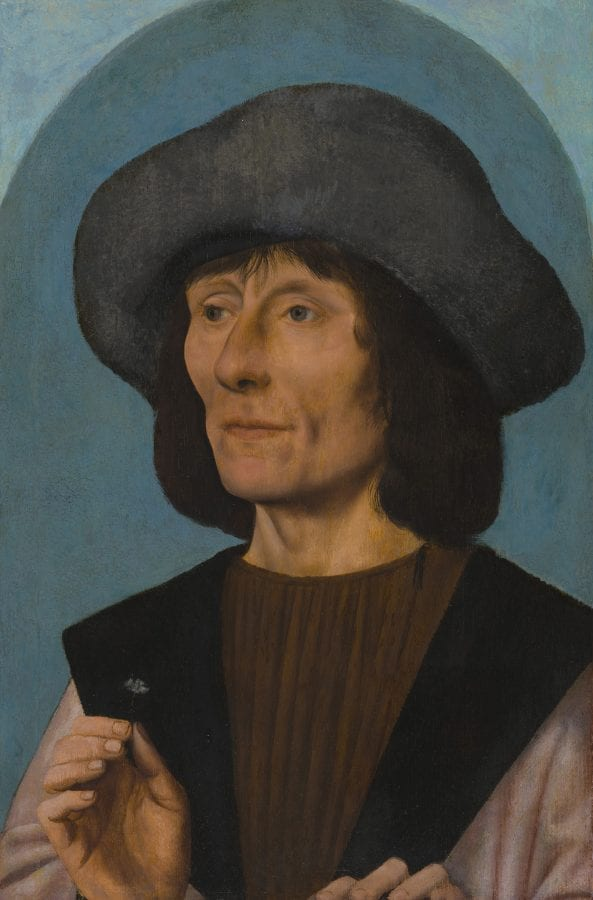 Quinten Metsys,  Portrait of a Man with a Pink,  1500/10, The Art Institute of Chicago, Gift of John J. Glessner