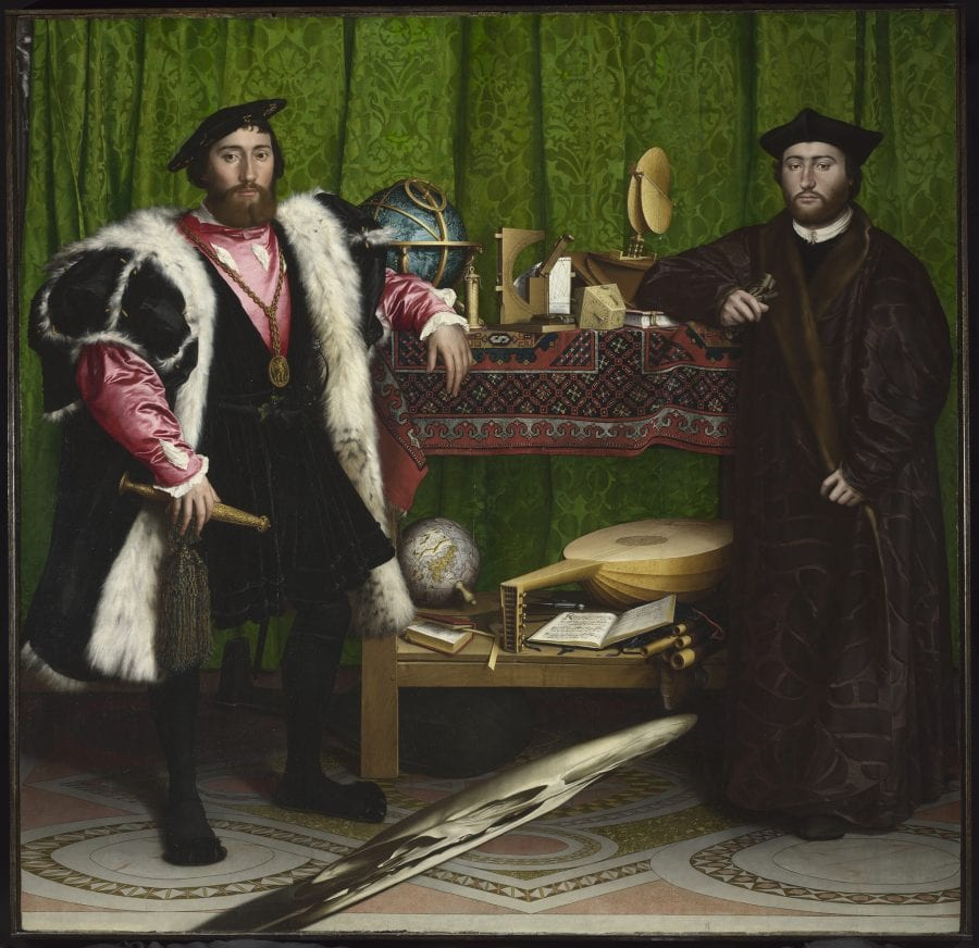 Hans Holbein, the Younger, Jean de Dinteville and Georges de Selve, also kno, 1533, The National Gallery, London