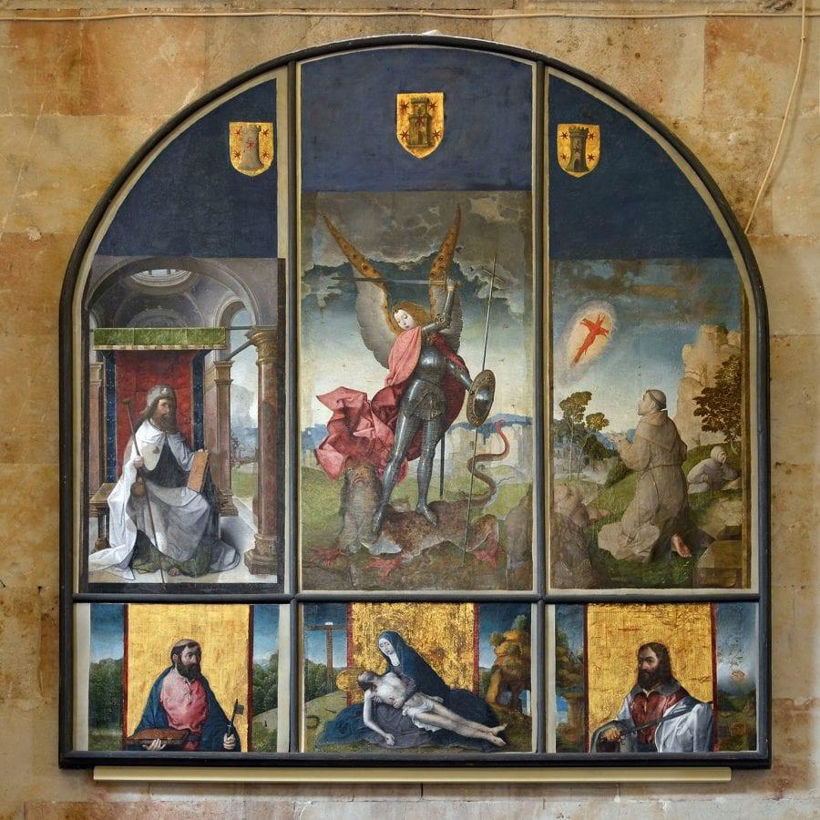 Juan de Flandes, Retablo de San Miguel, 1508/9., Salamanca, Cathedral Museum.