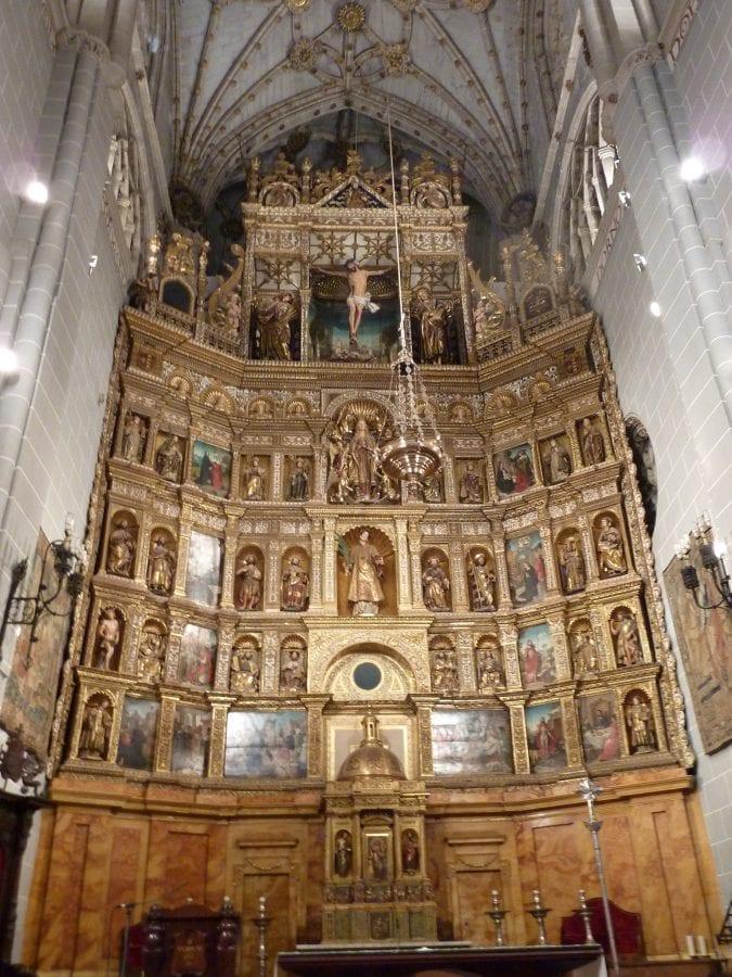 Juan de Flandes, Juan Tejerina, Pedro de Guadeloupe, Felipe Bigarny, and Pedro Manso, Retablo Mayor, begun in 1504., Cathedral of Palencia