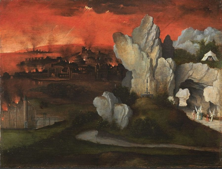 Joachim Patinir, Landscape with the Destruction of Sodom and Gomor, ca. 1520, Rotterdam, Museum Boijmans Van Beuningen