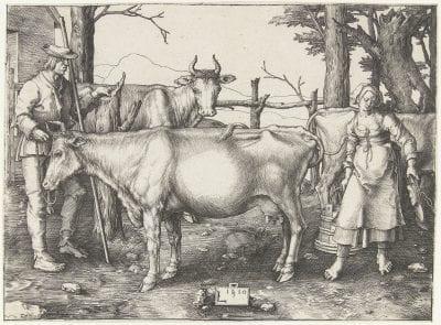 Lucas van Leyden,  The Milkmaid, 1510,  Amsterdam, Rijksmuseum (exh.)