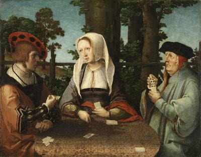 Lucas van Leyden,  The Card Players,  ca. 1513_15,  Madrid, Museo Thyssen-Bornemisza (exh.)
