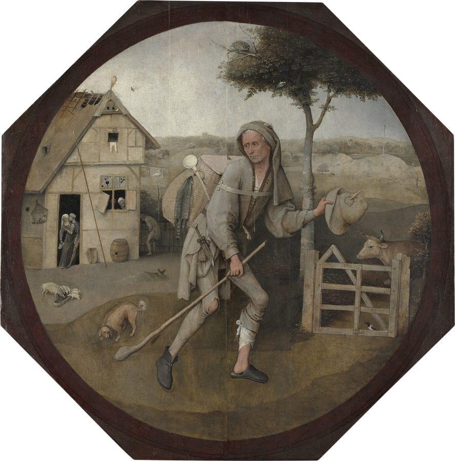 Hieronymus Bosch,  Pedlar,  ca. 1500,  Rotterdam, Museum Boijmans Van Beuningen (exh.)
