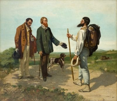 Gustave Courbet,  The Encounter (Bonjour M. Courbet), 1854,  Montpellier, Mus_e Fabre