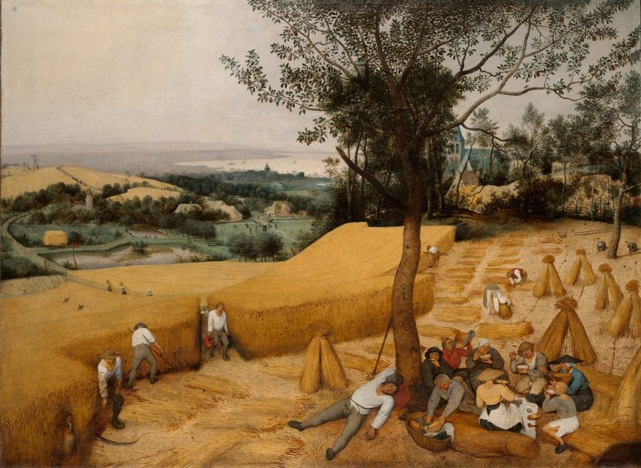 Pieter Bruegel the Elder, Harvest (August/September), 1565, signed and dated brvegel/ . . . Lxv, New York, The Metropolitan Museum of Art