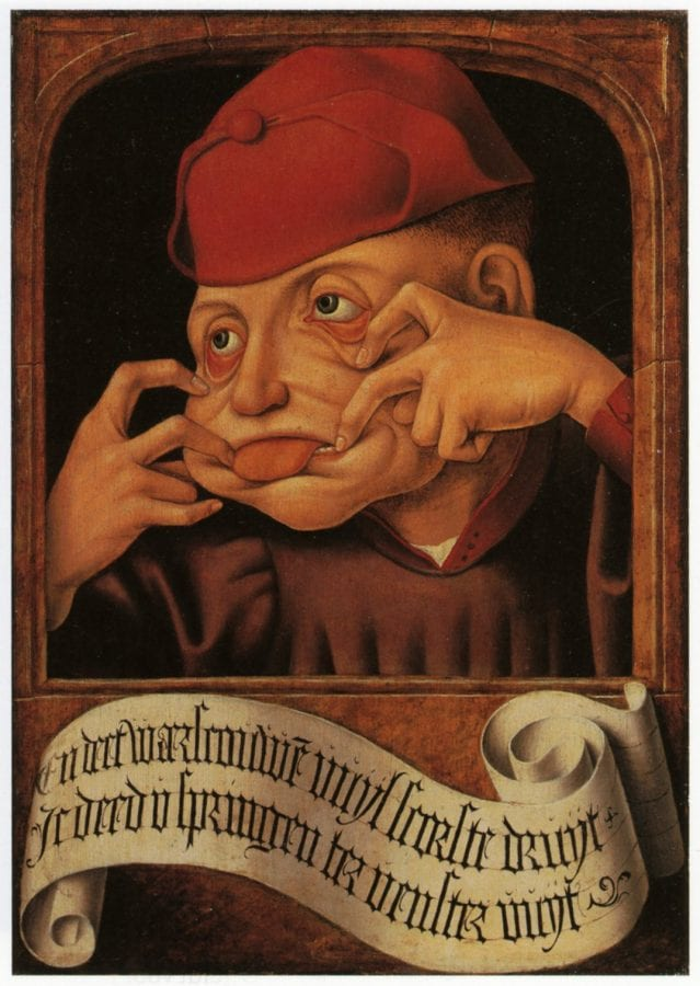 Anonymous, Southern Netherlands,  Satirical Diptych,  ca. 1520,  Lie_ge, Collections Artistiques de lÍUniversite_ de Lie_ge (exh.)