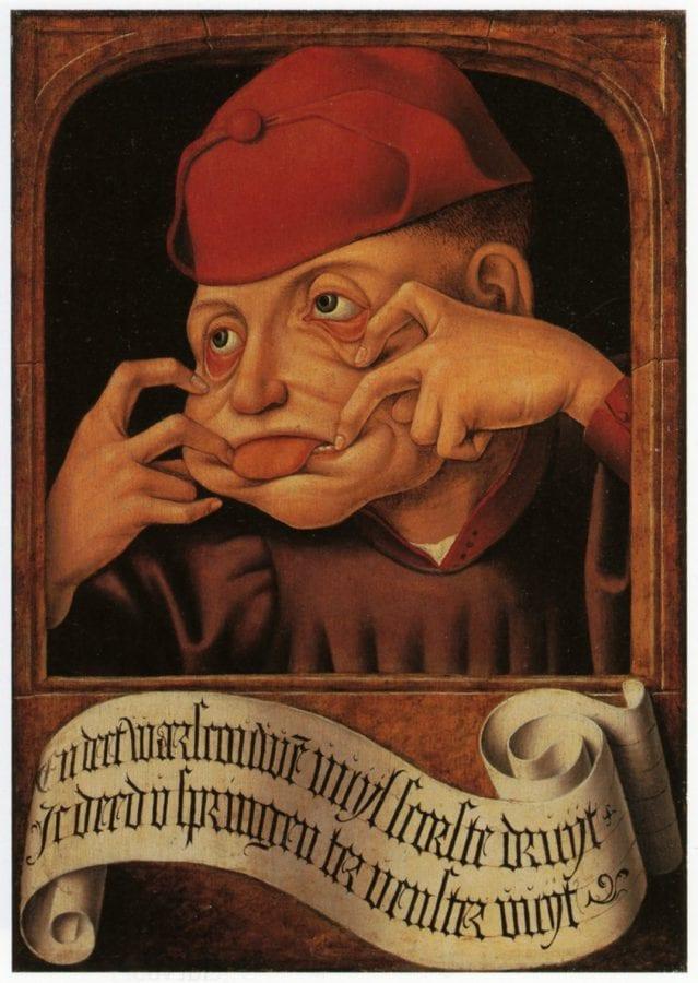 Anonymous, Southern Netherlands,  Satirical Diptych,  ca. 1520,  Lie_ge, Collections Artistiques de lÍUniversite_ de Lie_ge (exh.)