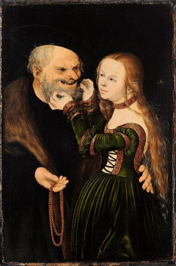 Lucas Cranach the Elder,  Unequal Love,  ca. 1530,  Du_sseldorf, Museum Kunst Palast