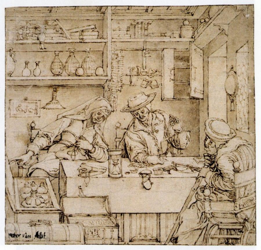 Pieter Coecke van Aelst, The Moneychanger and His Wife, ca. 1535_40, Vienna, Albertina
