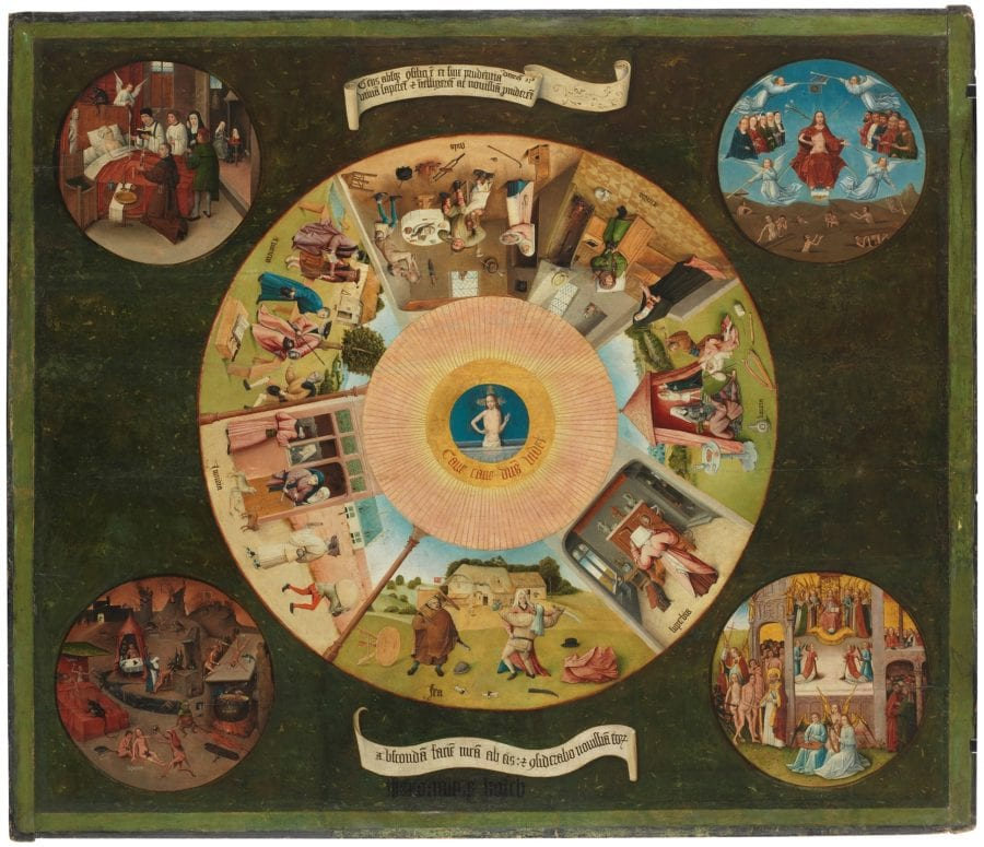 Follower of Hieronymus Bosch, Tabletop with the Seven Deadly Sins, ca. 1510_20, Madrid, Museo Nacional del Prado