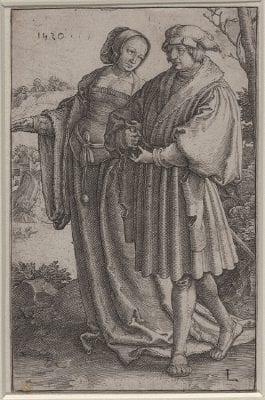 Lucas van Leyden, The Promenade, 1520, Rotterdam, Museum Boijmans Van Beuningen (exh.)