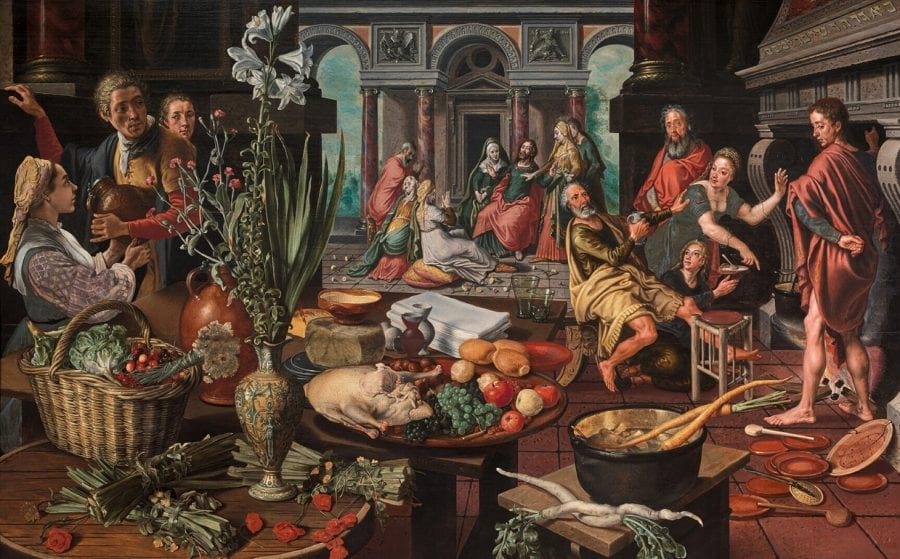 Pieter Aertsen, Christ in the House of Martha and Mary, 1553, monogrammed PA with trident and dated July 27, 1553, Rotterdam, Museum Boijmans Van Beuningen (exh.)