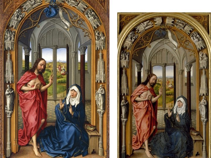 right panel of the Miraflores Altarpiece (fig. 1),