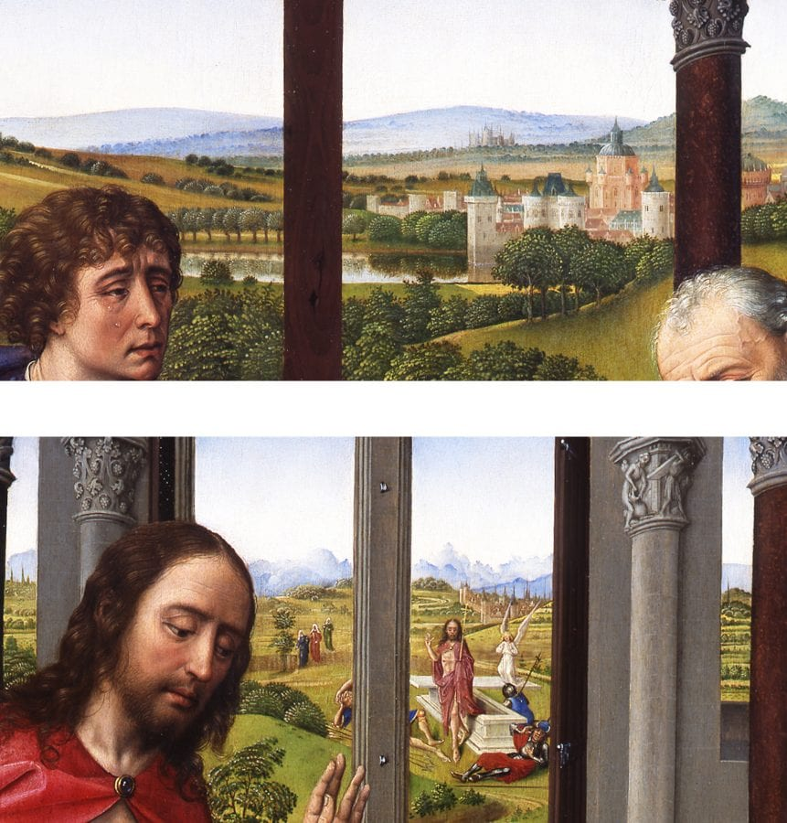 Details of the Miraflores Altarpiece (fig. 1): la,