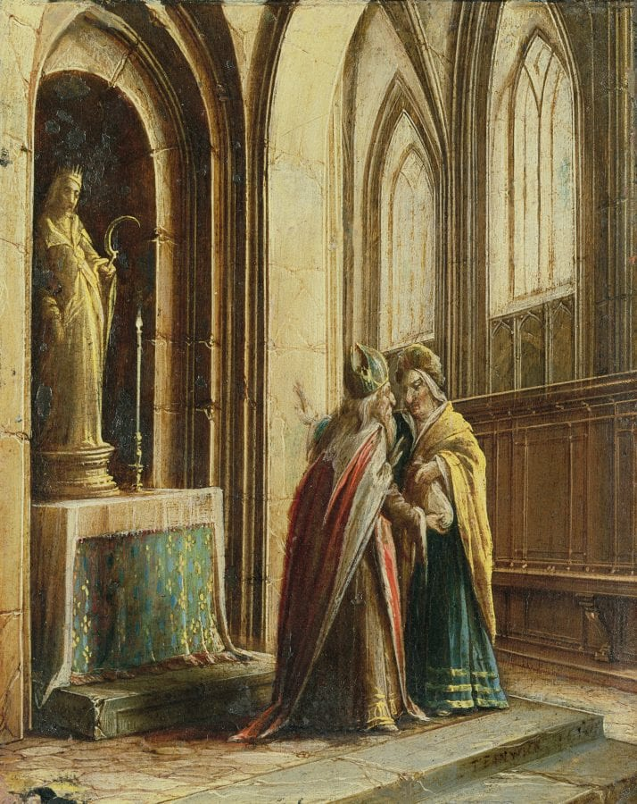 Hendrik van Steenwijck the Younger,  Two Figures in a Church,  Private collection