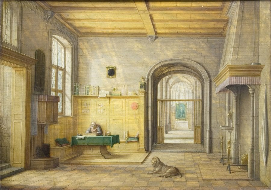 Hendrik van Steenwijck the Younger, Saint Jerome, 1624, Nottinghamshire, Welbeck Estate, Harley Gallery, The Portland Collection