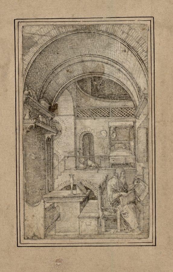 Ludwig Krug,  Saint Jerome in His Study,  ca. 1500–1530,  Vienna, Graphische Sammlung Albertina