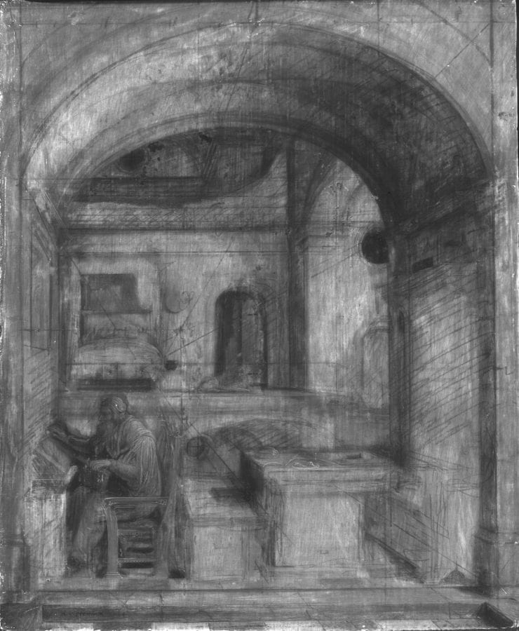 Hendrik van Steenwijck the Younger, Saint Jerome in His Study (fig. 1), infrared refl, 1624,
