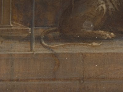 Hendrik van Steenwijck the Younger, Saint Jerome in His Study (fig. 1), detail of lio, 1624,