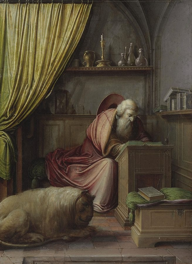 Hendrik van Steenwijck the Younger,  Saint Jerome in His Study,  New York, Christie's, January 31, 2013
