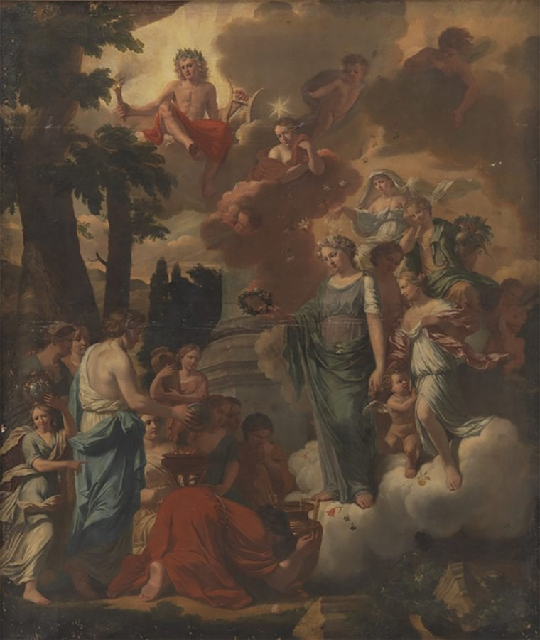 Zacharias Webber II,  Allegory of Apollo as Protector of Arts and Artis, 1672,  Copenhagen, National Gallery of Denmark