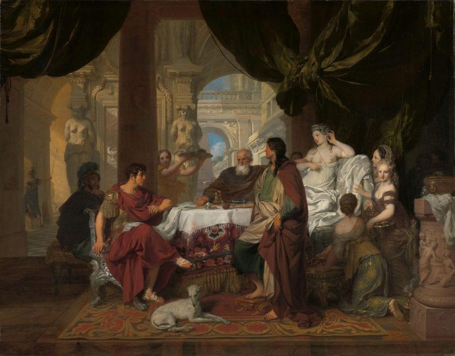 Gerard de Lairesse, Cleopatra's Banquet, ca. 1675–80, Amsterdam, Rijksprentenkabinet