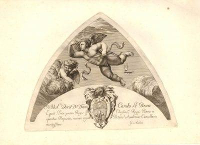 Gérard Audran, after Raphael,  Amoretto from the Villa Farnesina, Loggia di Psic,  London, British Museum