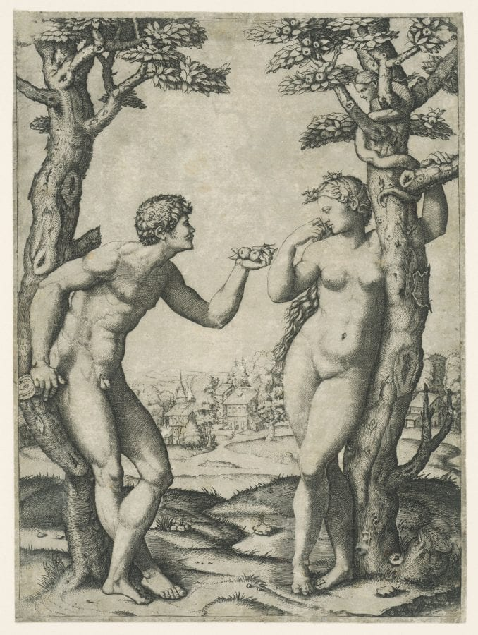 Marcantonio Raimondi, after Raphael, The Fall of Man, 1510–20, London, British Museum