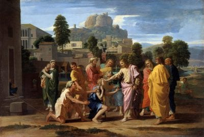 Nicolas Poussin,  The Blind of Jericho, 1650,  Paris, Musée du Louvre