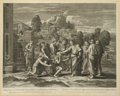 Guillaume Chasteau, after Nicolas Poussin,  The Blind of Jericho,  ca. 1672–74,  London, Wellcome Library