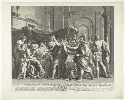 Guillaume Chasteau, after Nicolas Poussin,  The Death of Germanicus, 1663,  Amsterdam, Rijksmuseum