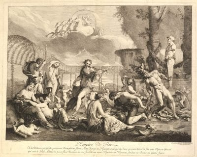 Gérard Audran, after Nicolas Poussin,  The Empire of Flora,  ca. 1680,  London, British Museum