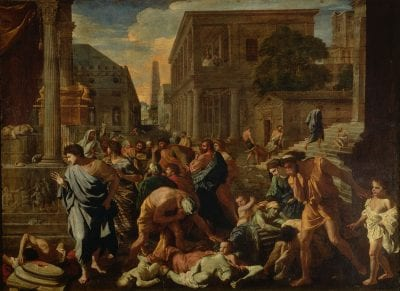 Nicolas Poussin,  The Plague of Ashdod,  1630–31,  Paris, Musée du Louvre