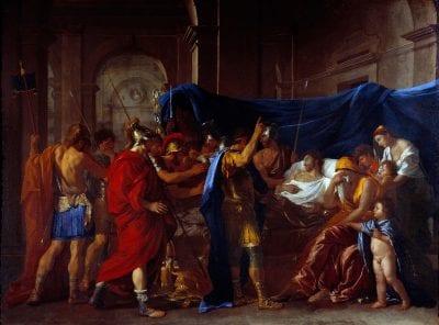 Nicolas Poussin,  The Death of Germanicus, 1627,  Minneapolis, Institute of Arts
