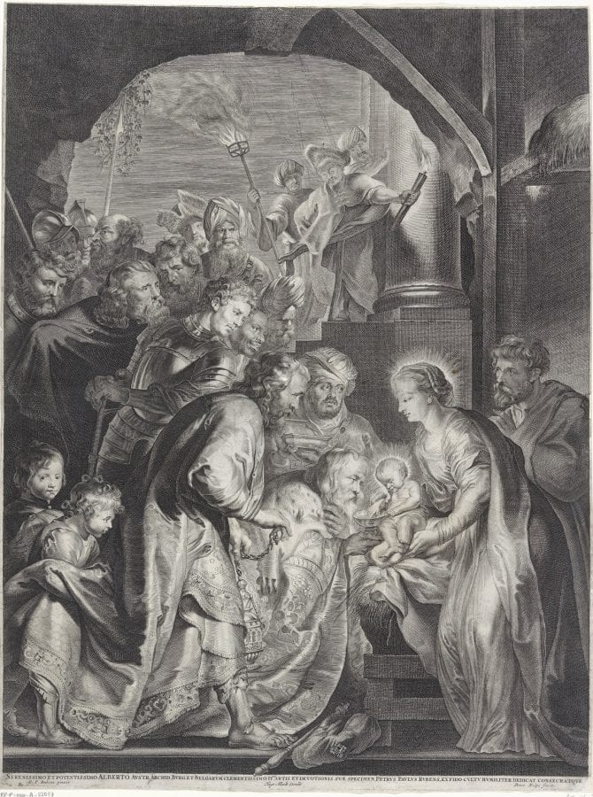 Lucas Vorsterman,  Adoration of the Kings, after Peter Paul Rubens, 1620,  Amsterdam, Rijksmuseum, Rijksprentenkabinet