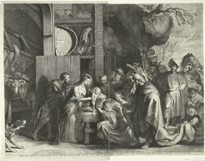 Lucas Vorsterman,  Adoration of the Kings, after Peter Paul Rubens, 1621,  Amsterdam, Rijksmuseum, Rijksprentenkabinet