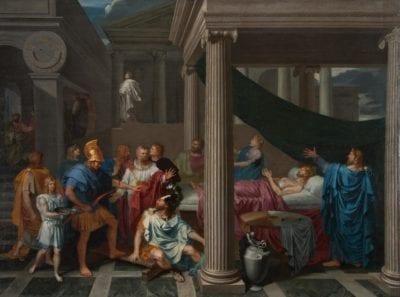 Bertholet Flénal, The Illness and Healing of Ezekias, 1651, Ann Arbor, University of Michigan Museum of Art