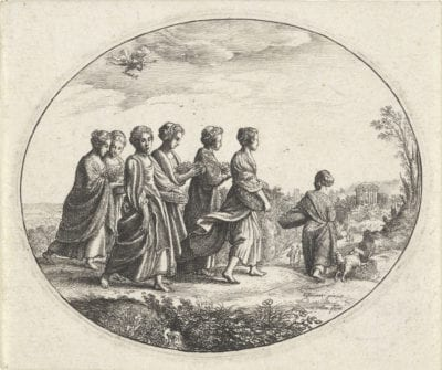 Wenzel Hollar, after Adam Elsheimer;  Mercury Seeing Herse