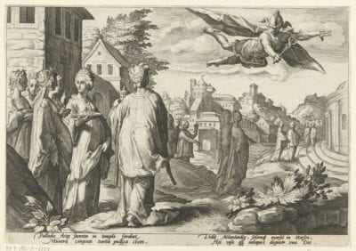 Anonymous, after Hendrick Goltzius,  Mercury Seeing Herse, 1589,