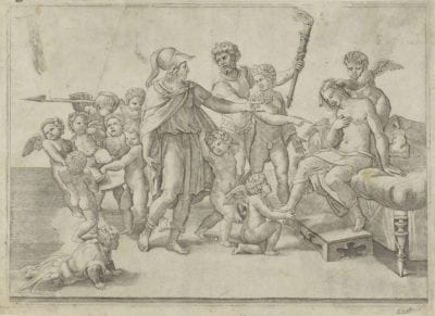 Jacopo Caraglio, after Raphael, The Marriage of Alexander and Roxane, ca. 1525–35,