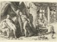 Anonymous, after Hendrick Goltziuis,  Mercury Visits Herse's Bedroom, 1589,