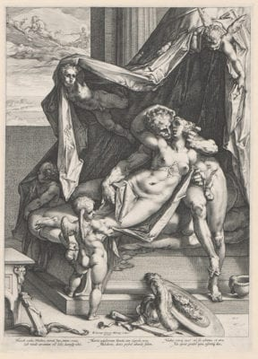Hendrick Goltzius, after Bartholomeus Spranger, Mars and Venus, 1588,