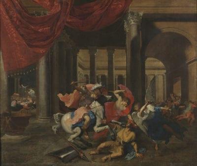 Bertholet Flémal, Heliodorus Chased from the Temple, ca. 1655–60, Brussels, Musées Royaux des Beaux-Arts de Belgique