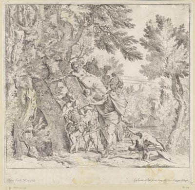 Pietro Testa,  Venus Giving Armor to Aeneas,  ca. 1640,