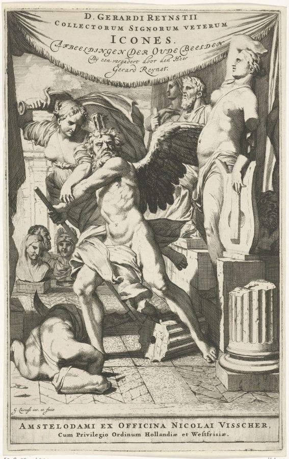 """Gerard de Lairesse, """"Collectorum Signorum veterum Icones, etched fr, 1671, British Museum, London"""