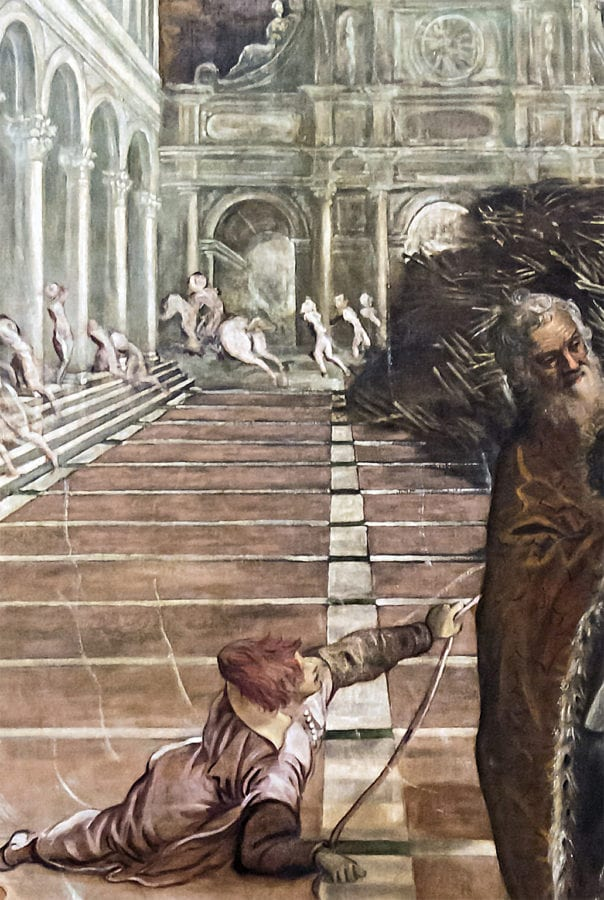 Jacopo Tintoretto, The Transportation of the Body of Saint Mark, detail of figures, ca. 1562–1566, Galleria dell'Accademia, Venice